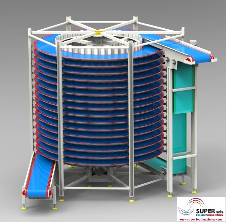 2-SUPER-DRUM SPIRAL CONVEYOR - www.super-foodmachines.com